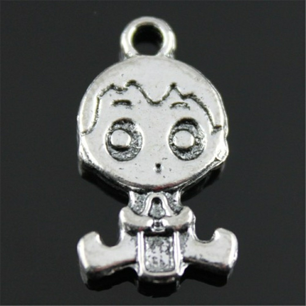 6pcs Baby With Feeding Bottle Charms For Jewelry Making 2 Colors Baby Boy Charms Charm Double Sided Boy Baby 24x13mm