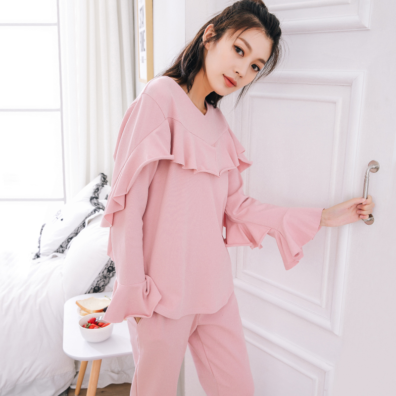 Detail Feedback Questions about M 2XL Womens pajamas large size winter  cotton pajama long sleeve spring autumn pijama home clothes for women  pyjama femme on ... b1511d186