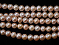 AA wholesale 2 strands 7-8mm natural pink genuine pearl