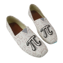 Pi symbol Math Printed Women slip on Low Top Canvas Casual Shoes Ladies Cartoon  Shoes for Teenagers Shoes Woman Vintage e lov fashion print math geometry canvas shoes funny science symbol printed students casual shoes unisex espadrilles