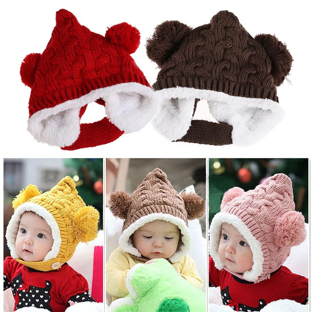ᐂ1-4Y del invierno del bebé cabritos del sombrero casquillo ...