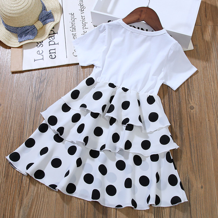 Girls Layered Dresses for Party and Wedding Kids Princess Dot Dress for Toddler Girl Clothes Summer Dot Layered Dress In Kids 15