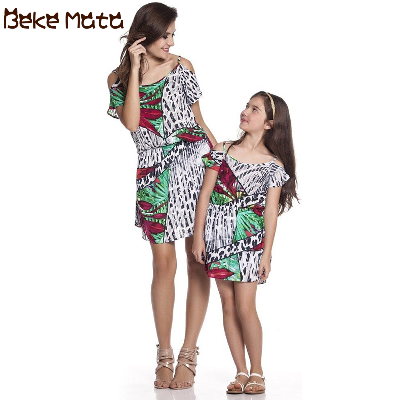BEKE MATA Mom Daughter Clothes Summer time 2019 Mommy And Me Garments Household Look Mother And Daughter Costume Patchwork Matching Outfits Matching Household Outfits, Low cost Matching Household Outfits,...