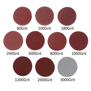 Image 2 - 2 inch 100PCS Sanding Discs Pad Kit for Drill Grinder Rotary Tools with Backer Plate 1/4inch Shank Includes 80 3000 Grit Sandpap