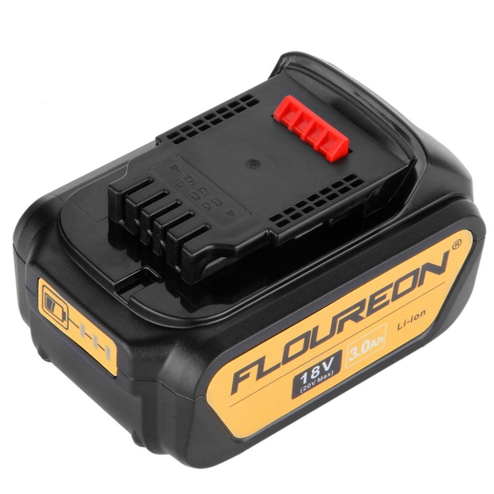 Floureon 18v 3000mah Battery Power Tools Batteries Replacement Baterai Cordless Dewalt 40 Ah Asli For Drill Dcb181 Dcb182 Dcd780 Dcd785 Saw In Rechargeable From