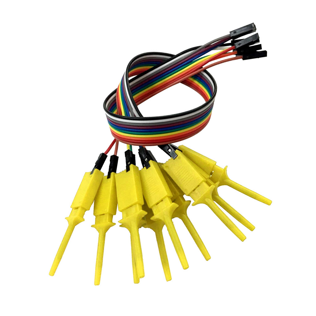 10 Pieces Logic Analyzer Cable Probe Test Hook Clip Line Blue