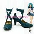 Por Encargo Japanese Anime Sailor Moon Sailor Neptune Cosplay Zapatos Botas de Tacón Alto Para la Navidad de Halloween CosplayLove