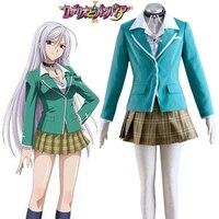 Rosario and Vampire Moka Akashiya Yokai Academy Uniform Cosplay Costume Tailor Made