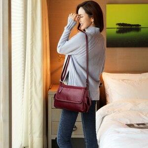Image 5 - Bolsos de lujo de diseñador para mujer bandoleras clásicas femeninas de alta calidad, bandoleras clásicas de cuero con solapa para hombro, 2019