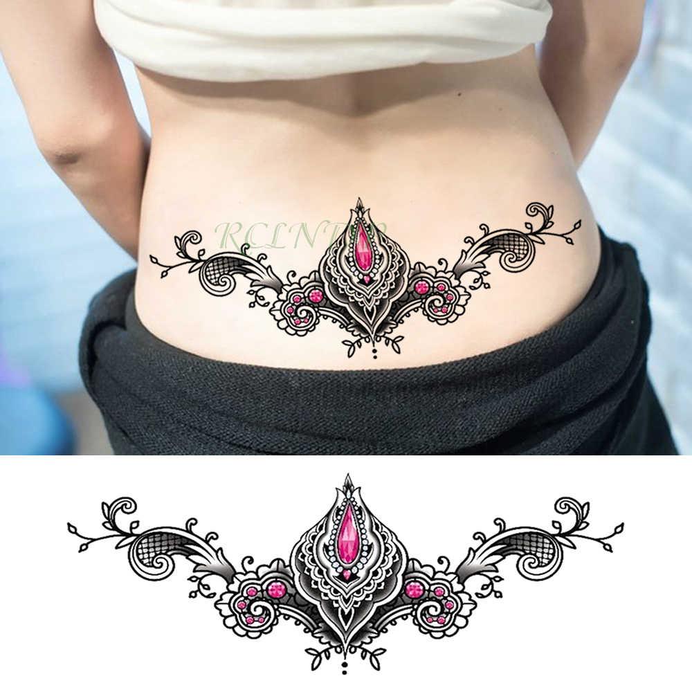51a519876 Waterproof Temporary Tattoo Sticker Diamond Crystal Sexy Fake Tatoo Henna  Breast Chest Waist Flash Tatto Body