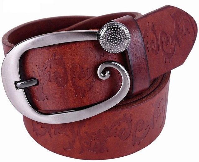 Широкие ремни для женщин 2017 100% натуральная кожа высокого качества способа дизайнер ceinture femme роскошь cinturones mujer ремень цветочные