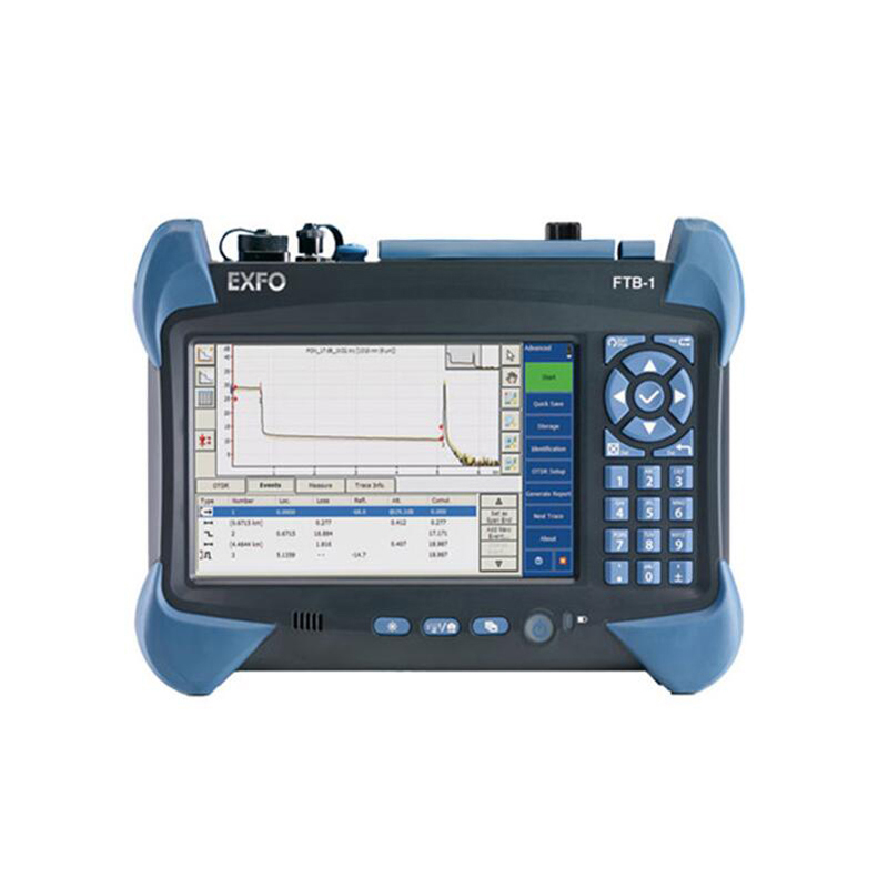 Handheld EXFO FTB-1-730 OTDR Tester ,Integrated VFL, Multi-function Touch Screen Optical Time Domain Reflectometer