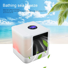 USB Mini humidificador Portable Air Conditioner Humidifier Purifier 7ColorsLight DesktopCoolingFan for Office Home OutdoorTravel