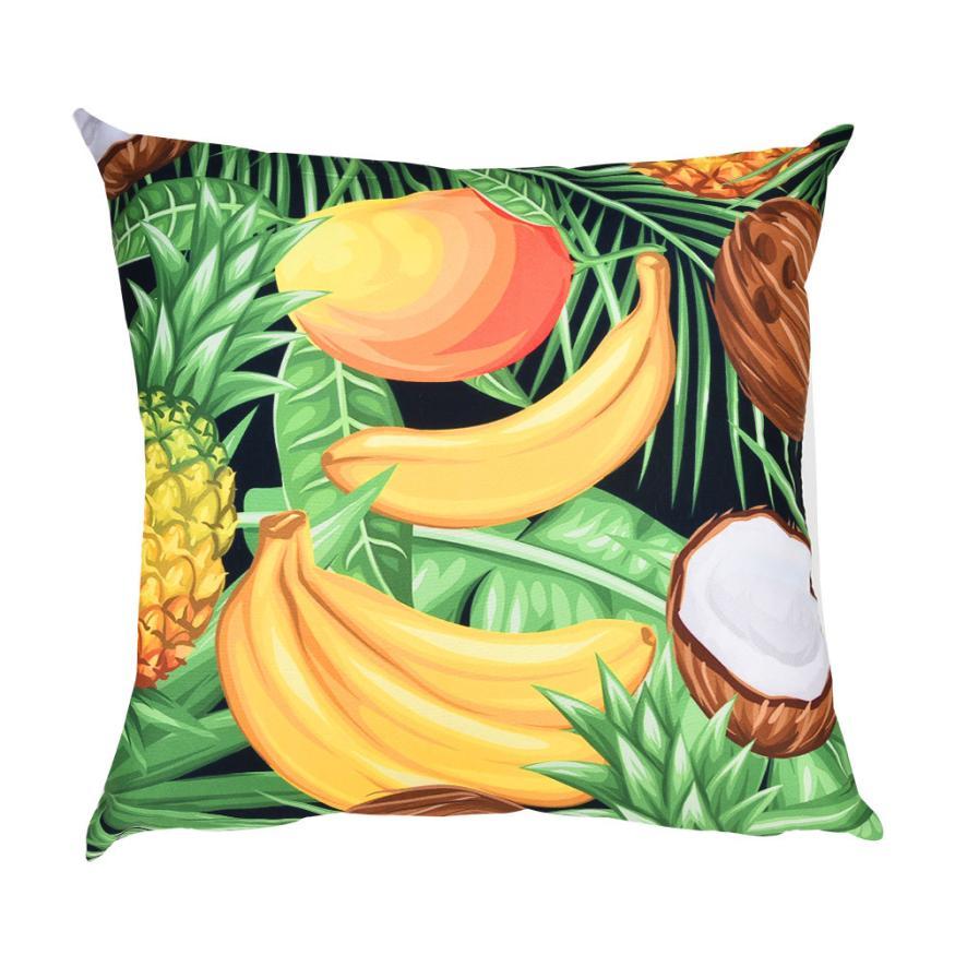 cushion cover pillows decorative Printed Polyester Cotton Pillow Case Polyester Sofa Car Cushion Cover Home Decor