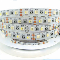 5M 5050 60LEDs/ 4 in 1 LED RGB+Warm RGB+Cool White LED Strip 60LEDS/M WHITE PCB 12V IP30 IP67 Waterproof