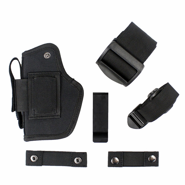 Tactical Gun Holster Concealed Belt Holsters IWB OWB Car Pistol Bag with Magazine Slot and 2 Strap Mounts Gun Accessories 5