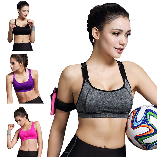 Absorb Sweat Quick Dry Professional Sports Bra Sexy Women Sport Bra Running  Gym Yoga Fitness Padded Tank Tops Stretch Workout 94b3ec5e4