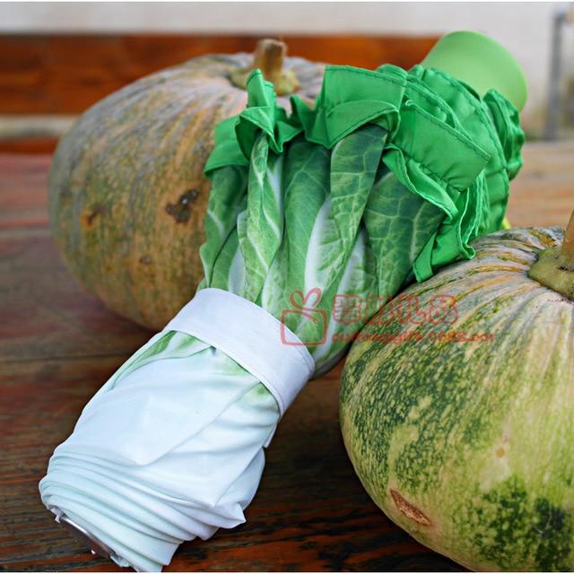 Kreatif Payung Mode Segar Simulasi Buah-buahan dan Sayuran Kubis Selada Payung Anak Payung