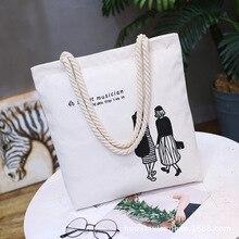 2019 Ladies Handbags Cloth Canvas Tote Bag Cotton Shopping Bags Travel Women Eco Reusable Shoulder Bags Female Women's Bags стоимость