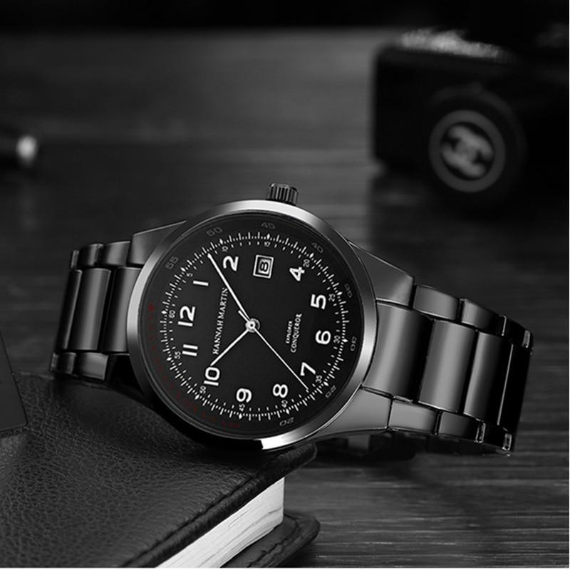 Hannah Martin Men's Watch Top Brand Luxury Wrist Watch Men Watch Fashion Business Mens Watches Clock relogio masculino цена