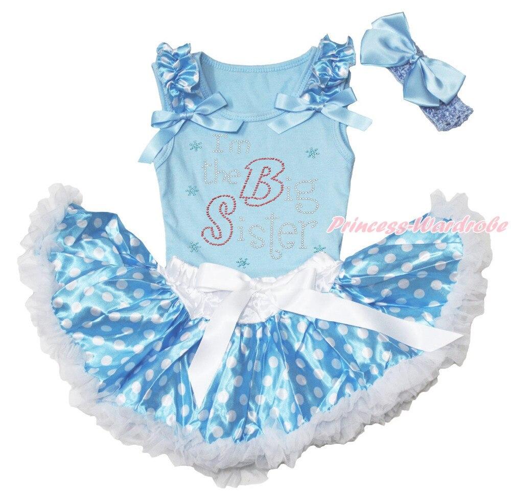 Pascua rhinestone hermana azul Top Polka Dot bebé recién nacido falda 3-12  m MAPSA0473 218c246efd9f