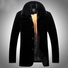 2017 New Warm Men Fur Coats Genuine Natural Velvet Winter Snow Animal Fur Motorcycle Jackets G0003