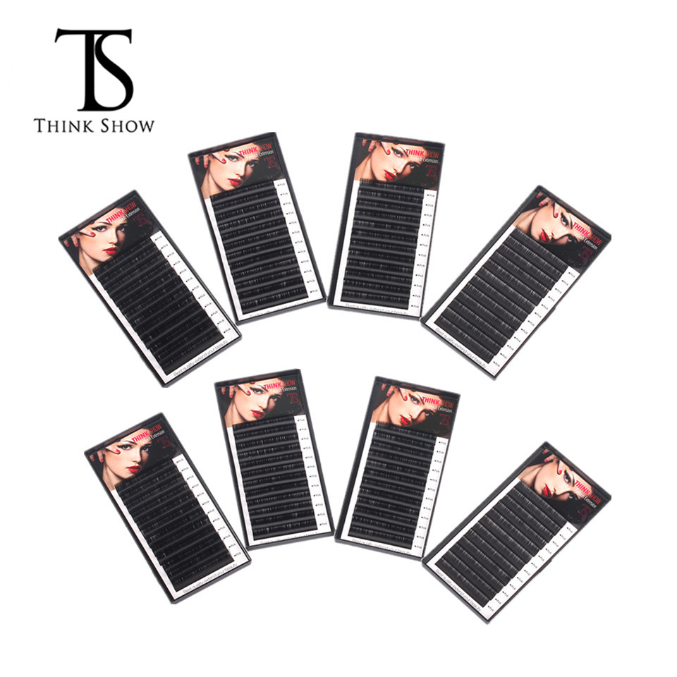 8 Cases Lashes Volume Silk Korea Individual Eyelashes,False Eye Lashes,Faux Synthetic Long Eyelash Extensions