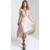 Verano hueco backless dress vestidos v-cuello del remiendo del cordón atractivo dress mujeres largo irregular dress robe longue femme yxnh80681