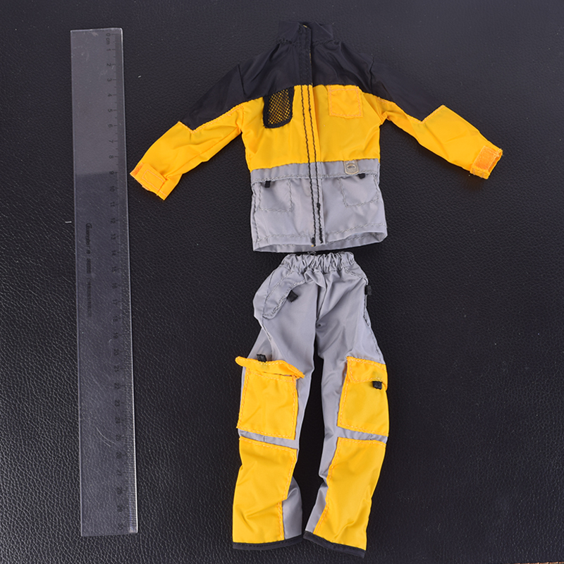 1/6 Scale Outdoor Sportswear Suits Yellow For 12 Phicen Action Figure COO b34003 Muscle Doll Toys Clothing Annex 1 6 scale figure doll clothes male batman joker suit for 12 action figure doll accessories not include doll and other 1584
