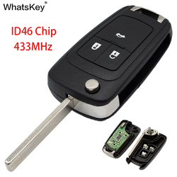 WhatsKey 2 3 Buttons Remote Flip Key 433Mhz ID46 Chip For Opel Vauxhall E Astra H Insignia J Vectra C Corsa D Zafira G 2009-2016