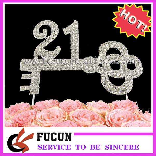 20 Pieces Lot New Design Cake Decoration Number 21 Key Shaped