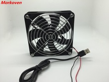 TV Box Router Cooling Fan Silent 120mm DC 5V USB Power 120*120*25mm Quiet Cooler 12CM Silent W/ Screws Screws and Grill Guard
