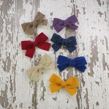 3 цвета, маленькие милые детские шерстяные фетровые заколки с бантиком, маленькие изящные заколки для маленьких девочек