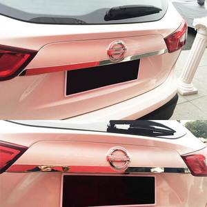 Image 4 - For Nissan Rogue Sport Qashqai j11 2014   2019 Chrome Rear Trunk Lid Tailgate Door Handle Cover Trim Molding Car Styling