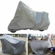Водонепроницаемый пылезащитный дышащий защитный чехол для мотоцикла с защитой от ультрафиолета, серебристый капюшон для мотоцикла, чехлы для скутеров