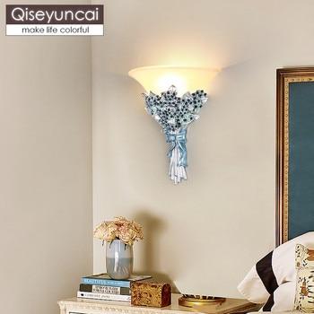 Europese boeket wandlamp woonkamer wandlamp eenvoudige creatieve trouwzaal decoratie kamer gangpad slaapkamer bedlampje