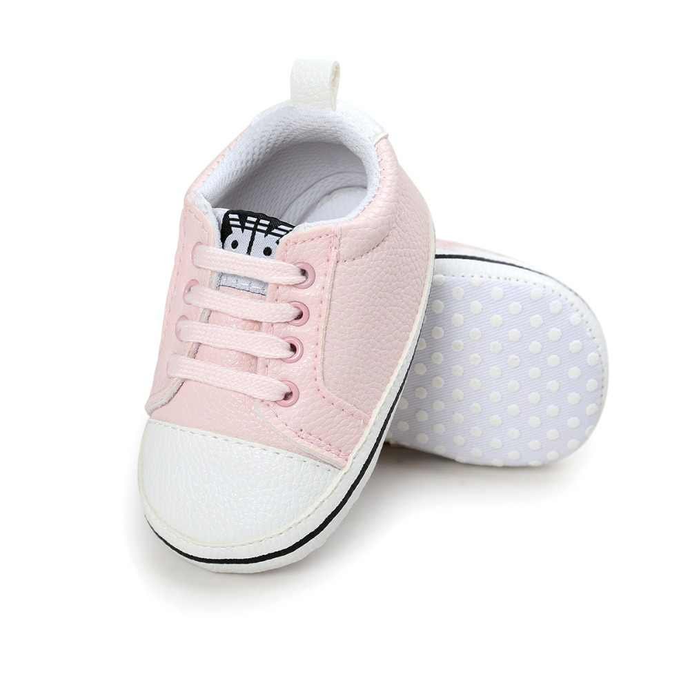 Baby Sportschoenen Nieuwe Classic Pu Lederen Baby Mocassins Zuigelingen Jongens GirlsToddler sneaker antislip Pasgeboren Wieg Schoenen Baby schoenen