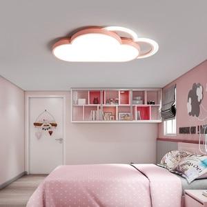 Image 2 - Lámpara de techo de Luna y estrella blanca para dormitorio, accesorio de iluminación moderno para habitación de niños y bebés, luces Led para el techo del hogar