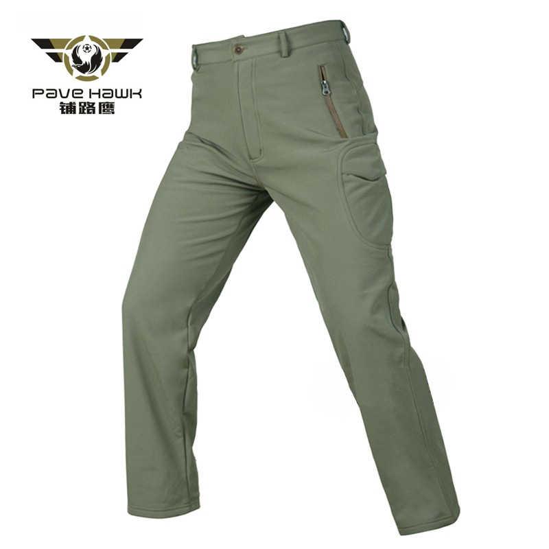 กางเกงกันน้ำฤดูหนาว Warm Softshell ขนแกะกางเกงผู้หญิงกางเกงเดินป่ายุทธวิธี Camouflage ตกปลาล่าสัตว์ trekking กางเกง