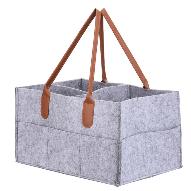 Foldable Felt Storage Bag Diaper Caddy Organizing Children Toys Tote ...