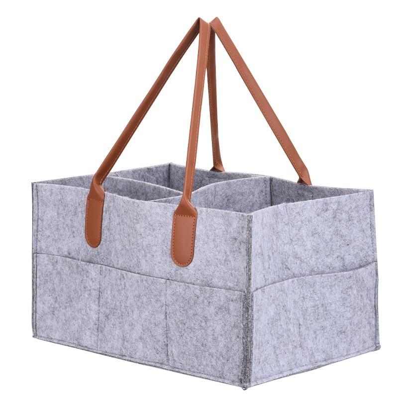 Foldable Felt Storage Bag Diaper Caddy Organizing Children Toys Tote Organizer