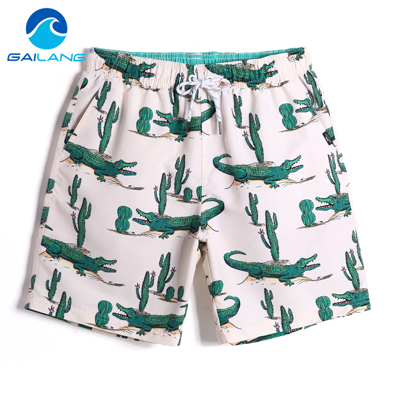Gailang Brand Men Beach   Shorts     Board   Boxer Trunks   Short   Casual Quick Drying Bermuda   Short   Bottoms Pants Men's Swimwear Swimsuits