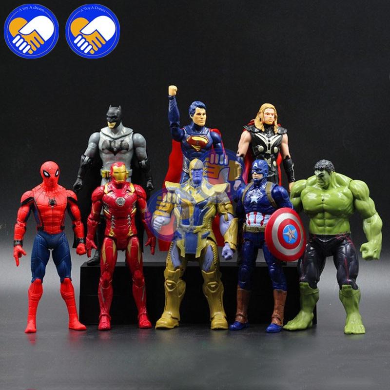 black widow Thor US Vendeur Captain america 7 PC The Avengers Hulk Iron Man
