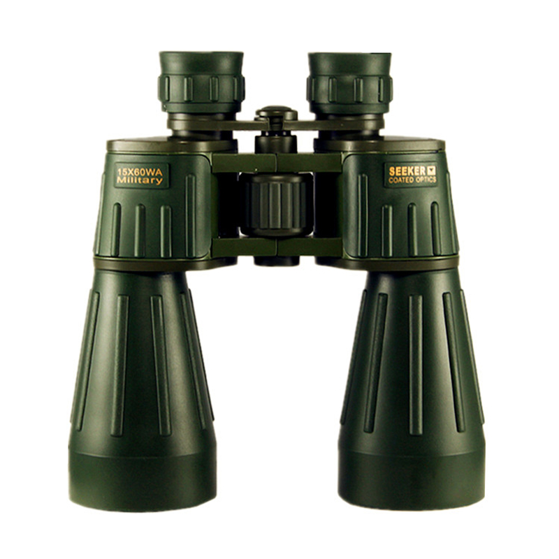Seeker 15X60 Binoculars Military Powerful Professional Binocular Army Green Telescope High-definition for Hunting Camping Travel 10x50 outdoor military binocular army green marine prismatic binoculars hot sale