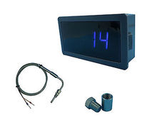 Blue LED Gauge with EGT Temperature Sensors & Weld Bund Kit in Fahrenheit