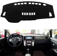 Подходит для Nissan Tiida 2007-2010 лет приборной панели автомобиля Чехлы для мангала dashmats Pad Авто Тенты Подушки Ковры протектор 2008 2009