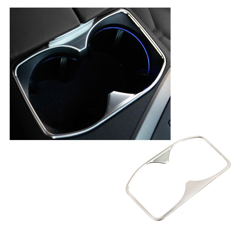Car special water cup decoration trim Stainless steel auto accessories for New <font><b>Peugeot</b></font> <font><b>4008</b></font> <font><b>2016</b></font> 2017 image