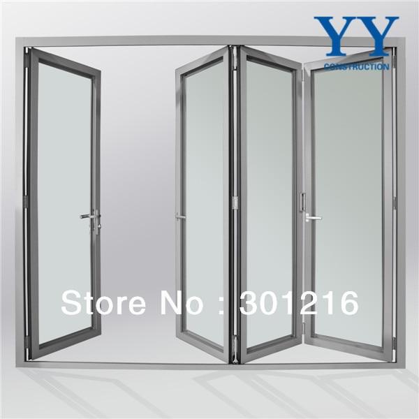Aluminium Glass Door Design Glass Mulit Panel Folding Front Door Design Folding Patio Door