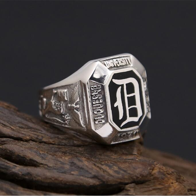 Solid Silver 925 Thick Band Rings Men Black Enamel Stone Gothic Lion Eagle 100% Real 925 Sterling Silver Jewelry Wide Ring Men цены