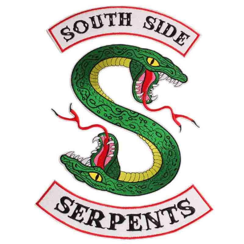 Riverdale Southside Serpents Embroidery Snake Patch on The Embroidery Patch for Clothing Jacket Vest Clothes DIY Needlework